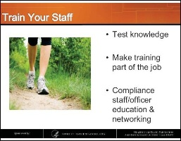 Train your medical billing and other staff on compliance