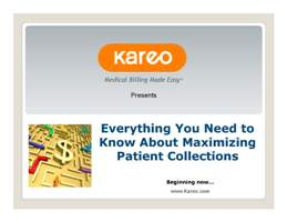 Elizabeth Woodcock offered multiple useful tips on improving your practice's patient collections in this recent webinar