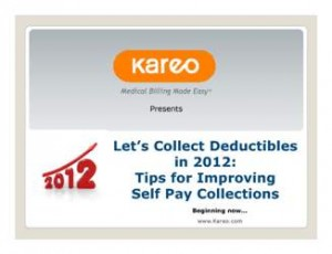 Sara Larch discusses specific strategies for improving self pay collections in this complimentary webinar
