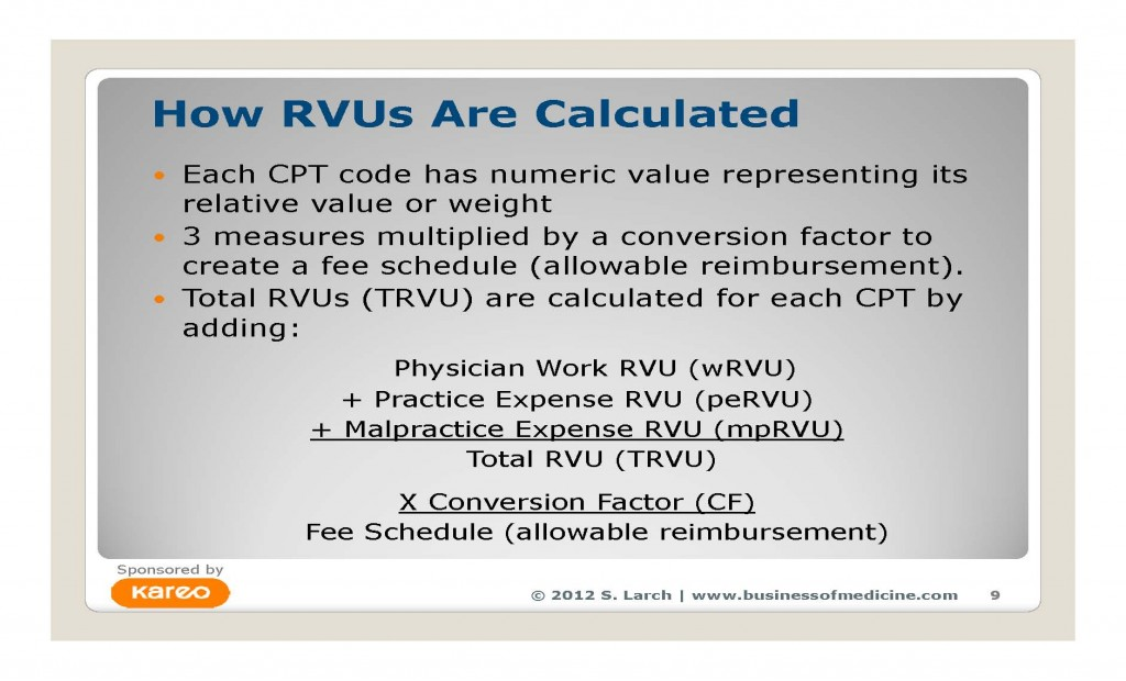 Expert Sara Larch explains how RVUs are calculated and used in this complimentary webinar