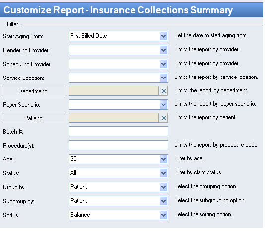 Medical Billing Tip of the Month: Use the Kareo insurance collection summary report to work on the High Dollar claims, Old Aging claims, Top 10 payers aging, etc.