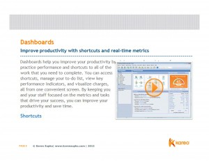 Expert Karen Zupko advises using dashboards such as Kareo's to manage your medical practice metrics