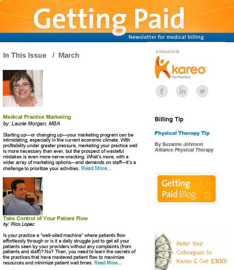 March 2013 Getting Paid newsletter