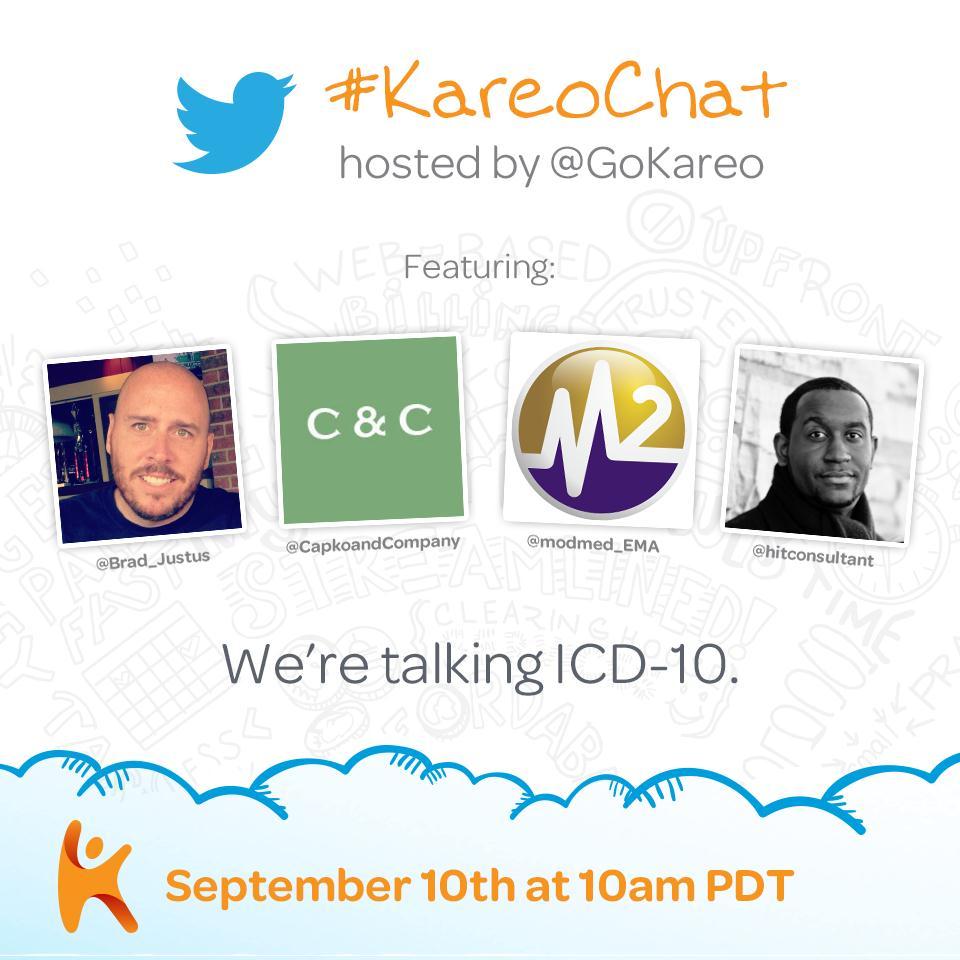 Kareo tweetchat on ICD-10