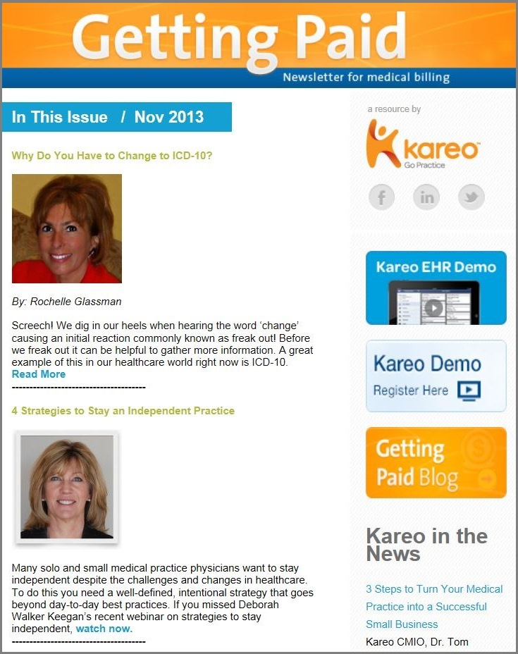 Kareo Newsletter ICD-10 Tips